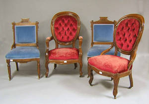 Four Victorian chairs