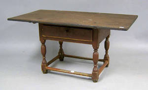 Scandinavian painted pine tavern table