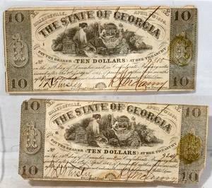 040387 GEORGIA CONFEDERATE PAPER CURRENCY 10
