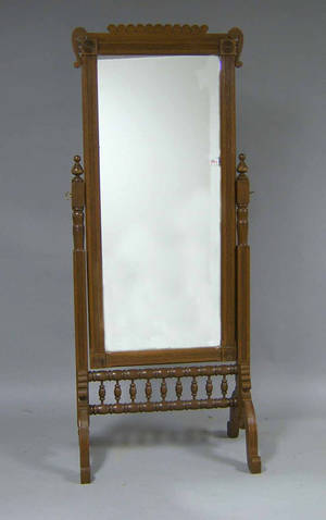Victorian cheval mirror Provenance The Estate of Anne Brossman Sweigart