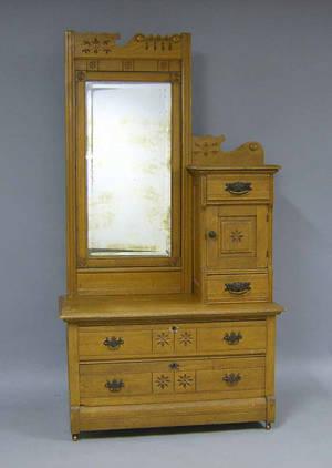 Victorian oak dresser