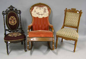 Six Victorian chairs