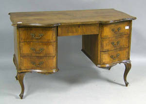 French burl veneer desk