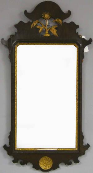 Queen Anne mahogany mirror