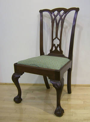 Philadelphia Chippendale walnut dining chair ca 1770