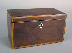 George IV mahogany tea caddy ca 1810