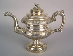 Philadelphia silver teapot ca 1820
