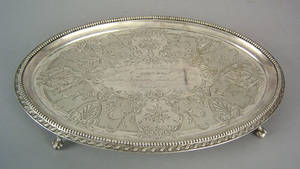 Philadelphia silver salver 19th c