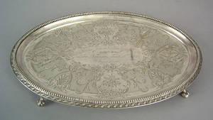 Philadelphia silver salver 19th c