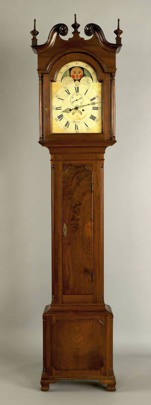 Philadelphia Chippendale walnut tall case clock ca 1790
