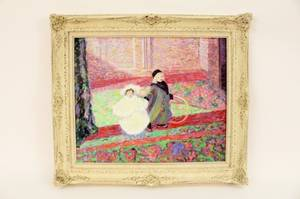 Impressionist Style Oil of Two Girls
