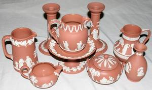 052388 WEDGWOOD TERRA COTTA JASPERWARE TABLE WARE