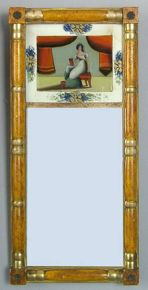 Late Federal painted mirror ca 1830