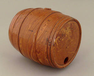 Redware Brandy barrel