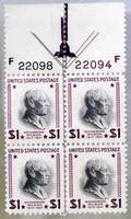 040440 US POSTAGE PLATE BLOCK 1DOLLAR STAMPS