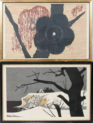 022374 KAORU KAWANO WOOD BLOCKS WINTERSCAPEBLOSSOMS