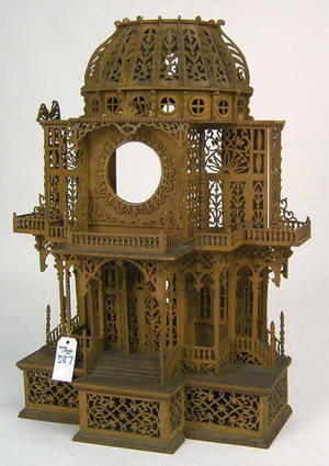 Fretwork clock hutch