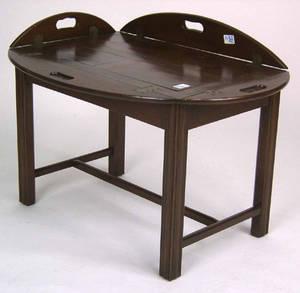 George III mahogany butlers tray