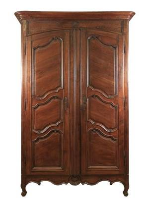 French Provincial Oak Two Door Armoire 19th C