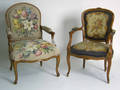 Two French style armchairs