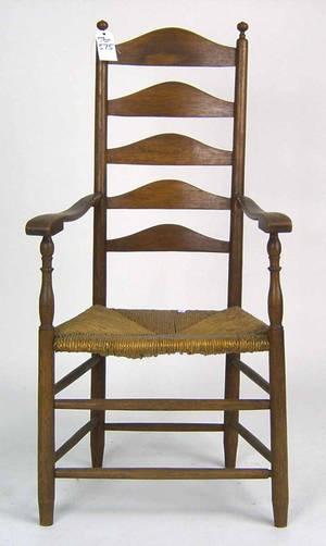 Fiveslat ladderback armchair
