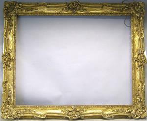 Elaborate giltwood frame