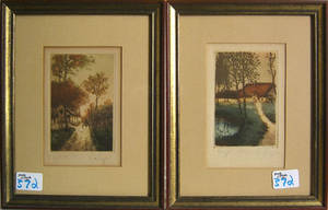 Two Van Roy color engravings