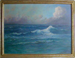 Oil on canvas seascape