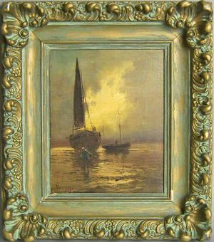 Oil on canvas seascape