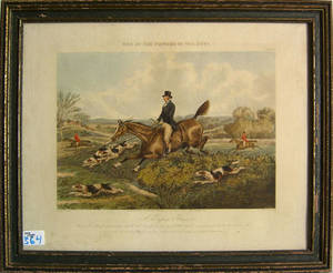 English fox hunt engraving