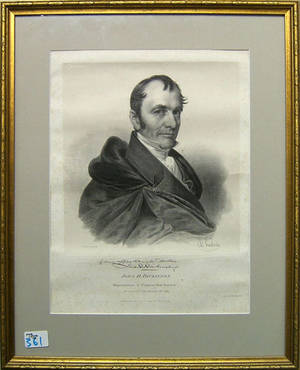 Print of John Dickinson by Chas Fenderich