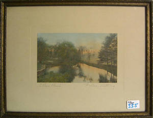 Two Wallace Nutting signed photographs