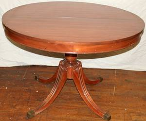 041478 ROUND MAHOGANY PEDESTAL TABLE H 29 DIA 44