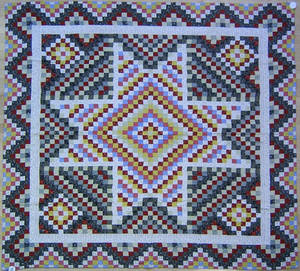 Pennsylvania calico pieced quilt ca 1900