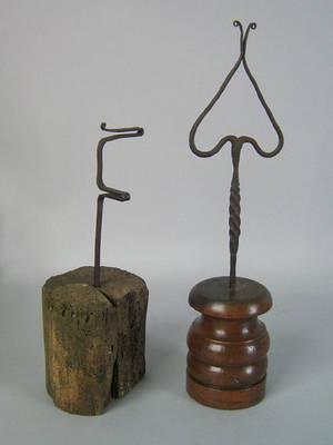 Wrought iron double splint holder 18th c
