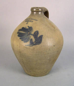 Two gallon stoneware jug 19th c