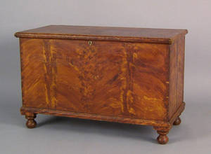 Pennsylvania painted blanket chest mid 19th c