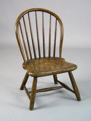 Camden New Jersey bowback windsor childs chair ca 1800