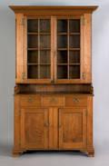 Pennsylvania walnut two part Dutch cupboard ca 1780