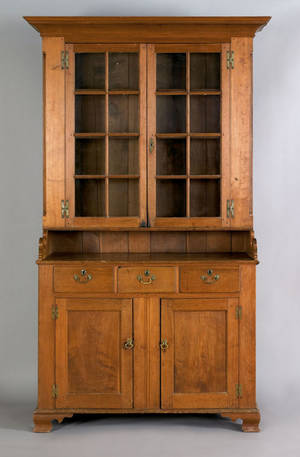 Pennsylvania walnut two part Dutch cupboard ca 1780