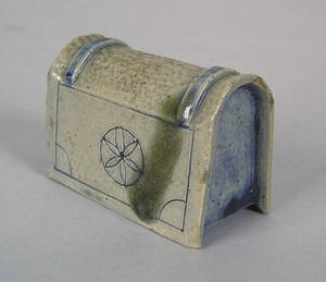 New York stoneware inkwell possibly by Crolius early 19th c