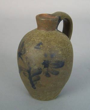 Pennsylvania miniature stoneware jug 19th c