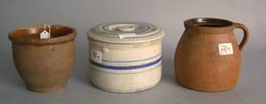 Stoneware lidded crock