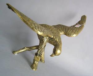 Brass sculpture of an eagle