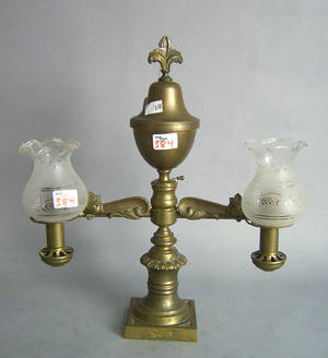 Brass Argand lamp