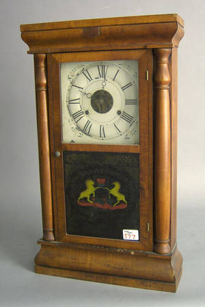 Connecticut mahogany mantle clock