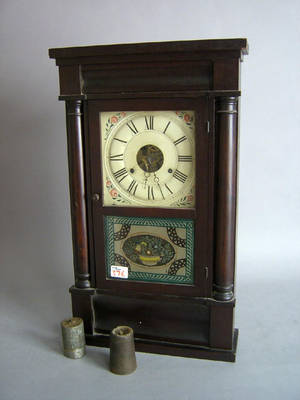 Connecticut mahogany mantle clock