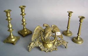 Two pair of candlesticks