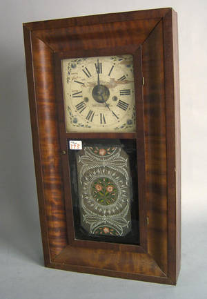 Connecticut mahogany mantle clock by Forestville
