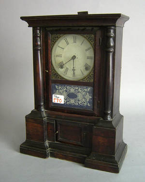 Connecticut rosewood mantle clock